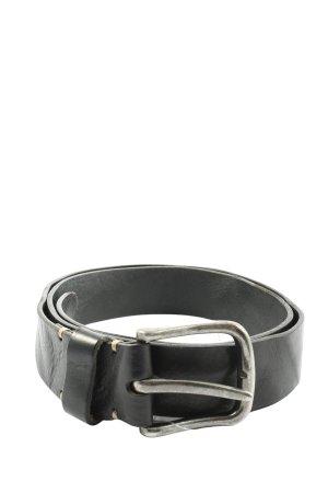 Cowboysbelt Cinturón de cuero negro look casual