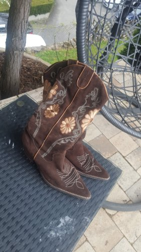 Buty w stylu western jasnobrązowy-ciemnobrązowy