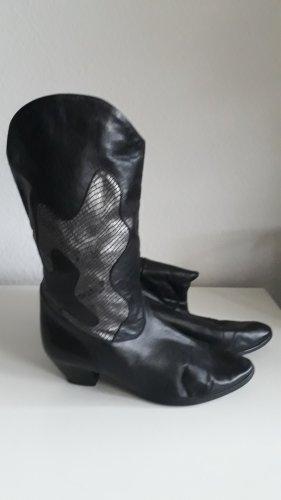 Boots western noir cuir