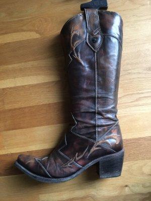 Sancho Boots Buty w stylu western ciemnobrązowy