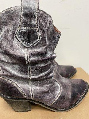 Hallhuber Low boot brun pourpre
