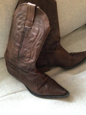 Boots western bronze cuir