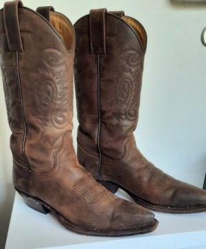 Sendra Western Boots dark brown leather