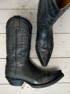 Sendra Buty w stylu western czarny Skóra