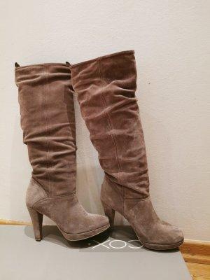 Cox Heel Boots beige leather