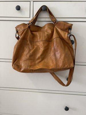 Cox braune Leder Handtasche
