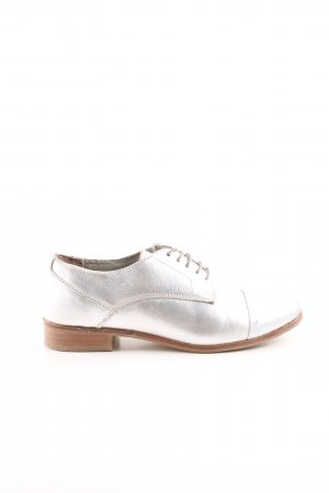 Cox Wingtip Shoes silver-colored-nude business style