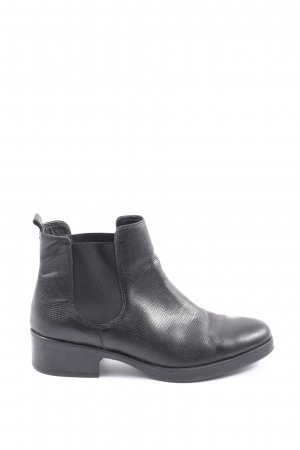Cox Chelsea Boots schwarz Animalmuster Casual-Look