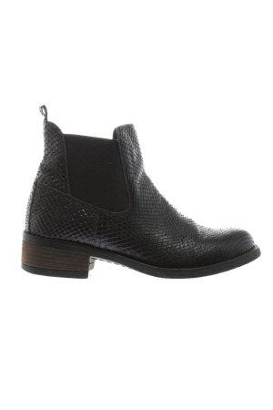 Cox Chelsea Boots schwarz Allover-Druck Business-Look