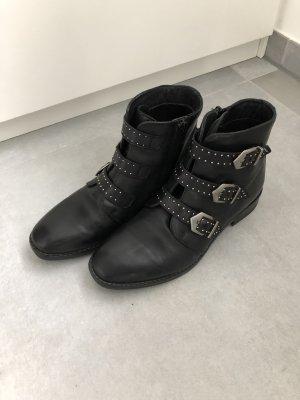 Cox Chelsea Boots Mode Blogger Fashion schwarz Silber stiefelletten