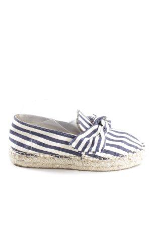 Cox Espadrille bleu foncé-blanc cassé motif rayé Look de plage