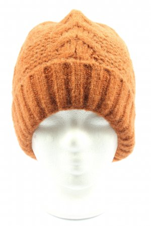 Cox Sombrero de punto naranja claro look casual