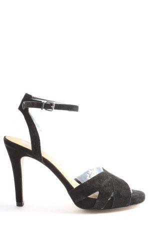 Cox High Heel Sandaletten schwarz Casual-Look
