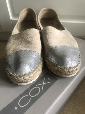 Cox loafer leder bicolore nude Silber Gr 39
