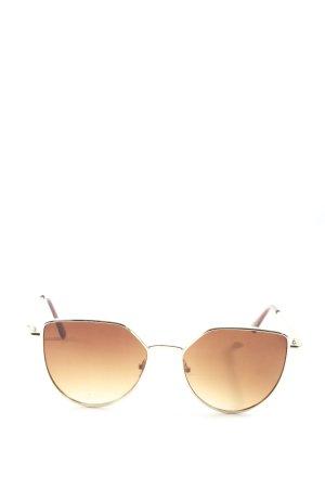 Cox Lunettes de soleil ovales brun style décontracté