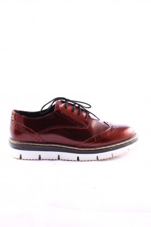 Cox Oxfords rood casual uitstraling