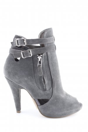 Cox Peep Toe Booties light grey business style