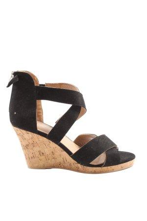 Cox Platform Sandals black casual look