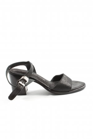 Cox Sandalias de tacón de tiras negro-gris claro look casual