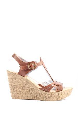 Cox Platform High-Heeled Sandal bronze-colored casual look