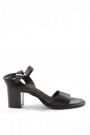 Cox Platform High-Heeled Sandal black animal pattern casual look