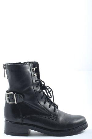 Cox Reißverschluss-Stiefeletten schwarz Casual-Look