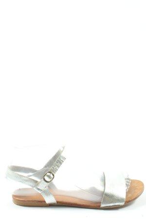 Cox Sandales à lanière argenté élégant