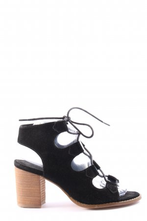 Cox Sandały z rzemykami czarny W stylu casual