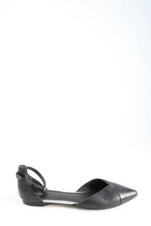 Cox Riemchen-Sandalen schwarz Animalmuster Casual-Look