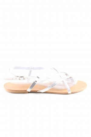 Cox Strapped Sandals silver-colored casual look