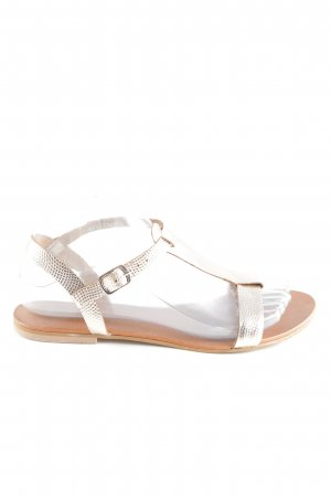 Cox Strapped Sandals gold-colored casual look
