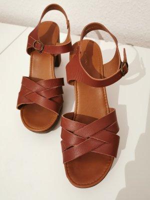 Cox Plateauzool Sandalen met Hoge Hakken bruin