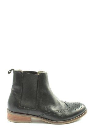 Cox Wciągane buty za kostkę czarny W stylu casual