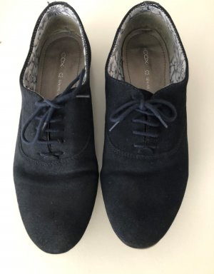 Cox Lace Shoes dark blue-blue leather