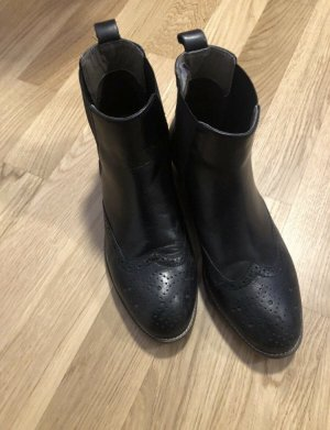 Cox   schwarze Leder-Stiefeletten   Damen-Schuhe Größe 40