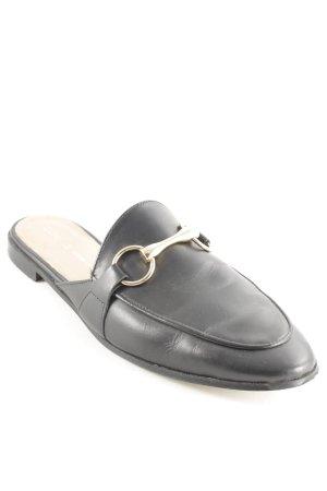 Cox Pantofel czarny Prosty styl