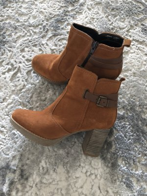 Cox Heel Boots brown-cognac-coloured
