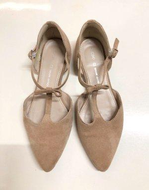 Cox Ballerina's met kant beige
