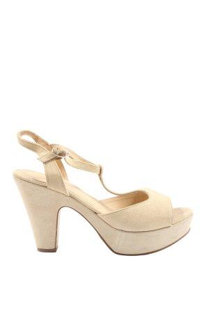 Cox T-Strap Sandals cream casual look