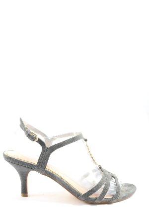 Cox Sandalo con tacco alto e lacci a T grigio chiaro elegante
