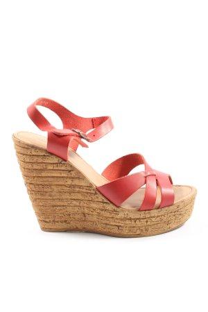 Cox Wedges Sandaletten rot-braun Casual-Look