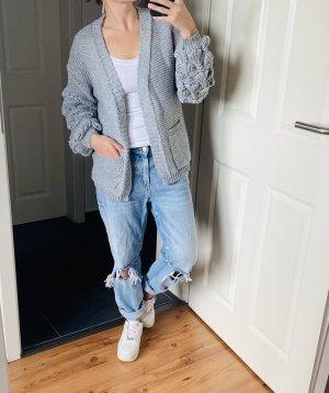 Cardigan tricotés gris clair-gris