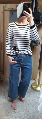 cpm collection Pullover Strickpullover Streifen Muster schwarz/weiß S