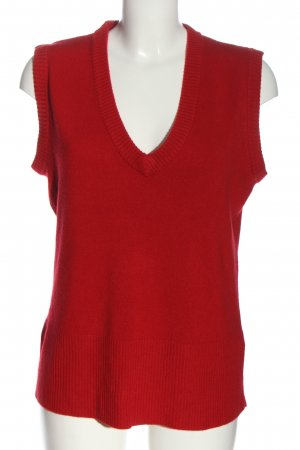 cpm Knitted Vest red casual look