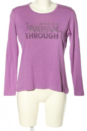 CPM the Collection! Longsleeve lila Casual-Look
