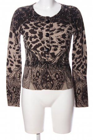 CPM the Collection! Cardigan natural white-brown graphic pattern casual look