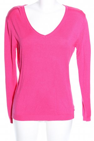 CPM the Collection! V-Ausschnitt-Pullover pink Casual-Look