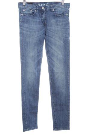 Craft Skinny Jeans stahlblau meliert Jeans-Optik