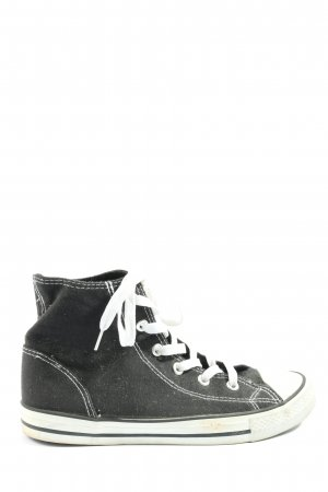 Crane High Top Sneaker schwarz-weiß Casual-Look