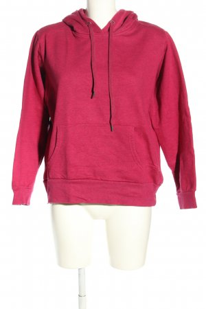 Crane Jersey con capucha rosa look casual
